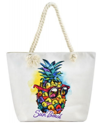 Designer Summer Pineapple Canvas Tote Bag FC00645