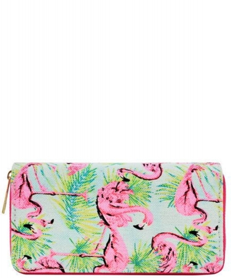 Designer Flamingo Single Zip Around Wallet WA00493
