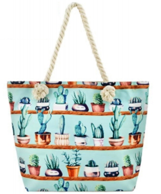 Designer Cactus Canvas Tote Bag  FC0064
