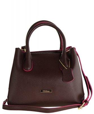 Idigao Women Fashion PU Leather Shoulder Bags with Wallet Top-Handle Handbag Tote Bag Purse BURGANDY