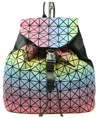 Matte Geometric Checkered BackPack A81068 COLOR