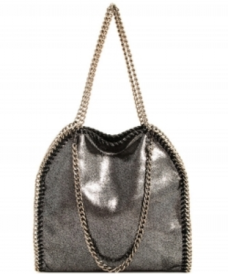 Fashion Chained Designer Satchel with Chain GF6520 PEWTER