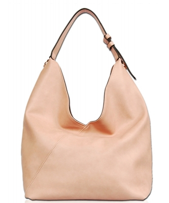Solid Long Chain Accented Hobo Bag FL1560 PINK