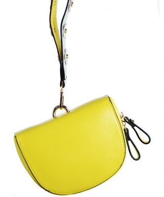 Luxury  Classic Clutch with Chain 6508 YELLOW