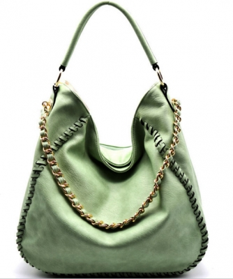 Chain Accent Whipstitched Hobo SS1192-LP MINT