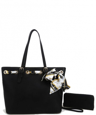 Fashion Top Handle 2-in-1 Shopper T2173 BLACK