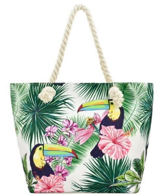 Designer Toucan Canvas Tote Bag FC00651