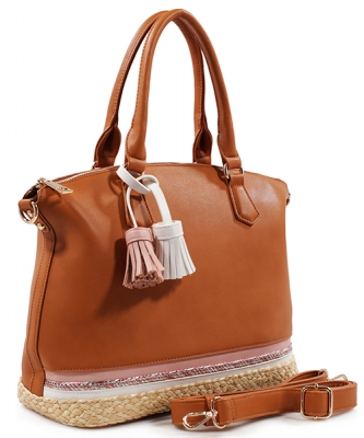 Fashion Satchel DS1794 BROWN