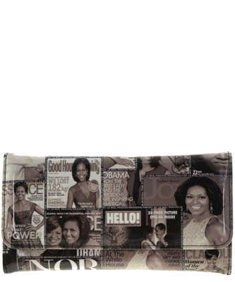 Michelle Obama Magazine wallet BLACK