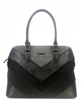 David Jones Satchel HandBag 6149-4  BLACK