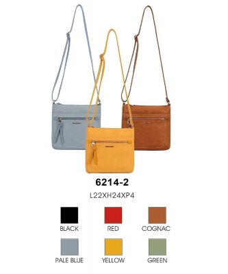1 Box (15pcs) David Jones Crossbody Bags 6214-1 ASSORTED