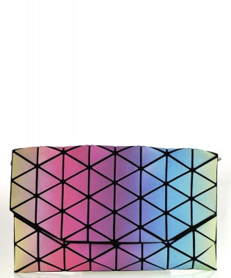 Geometric Checkered Clutch w strap 81064 Sevenrevising