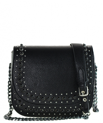Women Fashion PU Cross Body  Mini Bag Purse BLACK