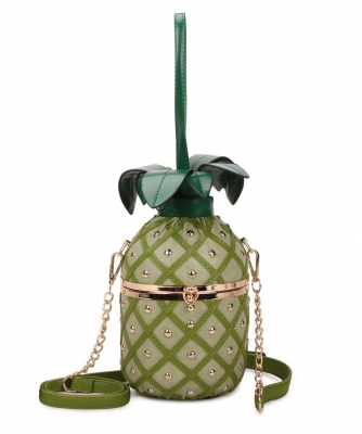Pineapple Shaped Crossbody Bag A9355 GREEN