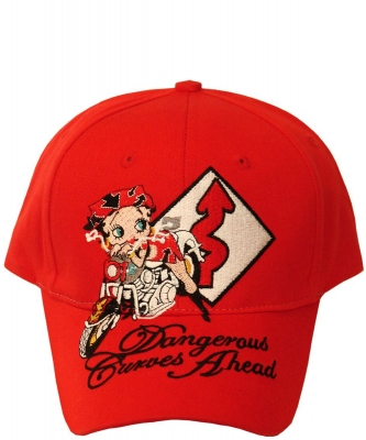 American Favorites BB018 RED Betty Wink  Baseball Cap