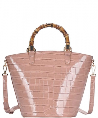 Cute Glossy Snake Pattern Tote Bag BGS-88060 BLUSH