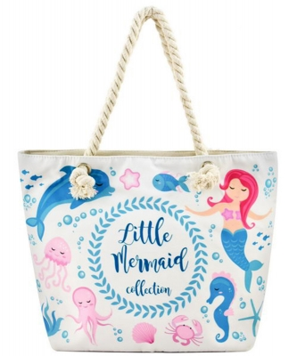 Designer Mermaid Canvas Tote Bag FC00632