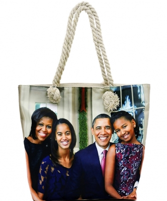 Michelle Obama Magazine Printed Tote Bag FC0077-2