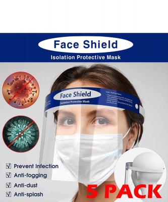 5pcs Transparent Plastic Face Shield FSMASK19