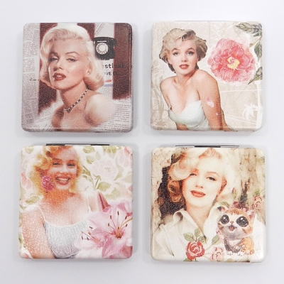 Marilyn Monroe Compact Mirror 12 Pcs Set Assorted colors GFT84-0935AT