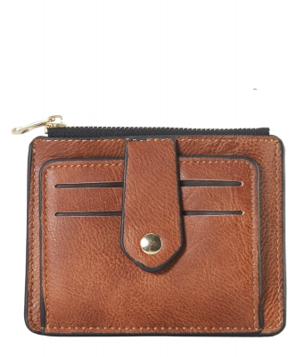 Compact Credit Card Case Wallet GS300  BROWN