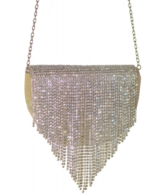 Crystal Flap Crossbody Bag GOLD