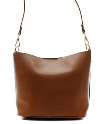 Fashion Faux Leather Messenger Bag HR073 TAN