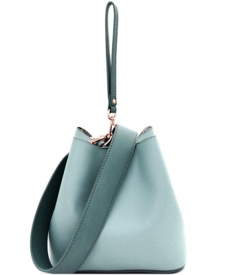 Fashion Faux Leather Messenger Bag HR073 TURQUOISE