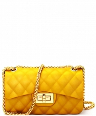 Quilted Jelly Small 2 Way Shoulder Bag JP067 GOLD