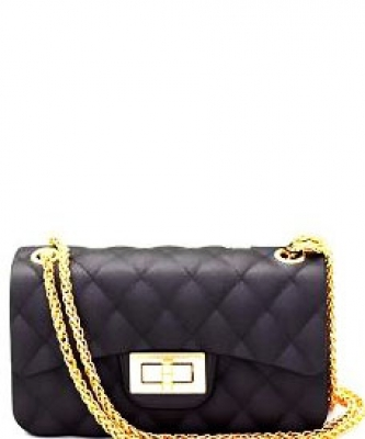 Quilted Jelly Small 2 Way Shoulder Bag JP067 GRAY