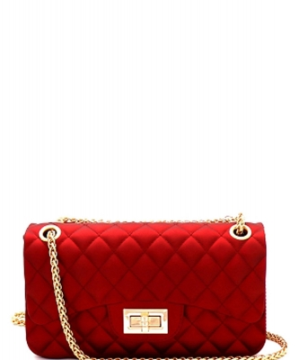 Quilted Jelly Small 2 Way Shoulder Bag JP067 RED
