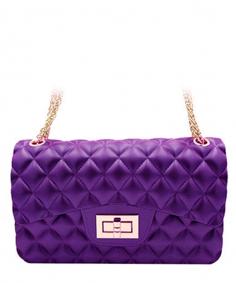3 Compartments Trendy Wholesale Fashion Cross Body Bag JP068 MEDIUM PURPLE