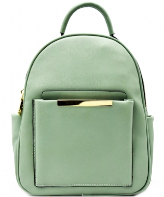 Hardware Accent Fashion Backpack L0961 MINT