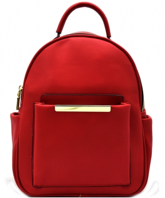Hardware Accent Fashion Backpack L0961 RED