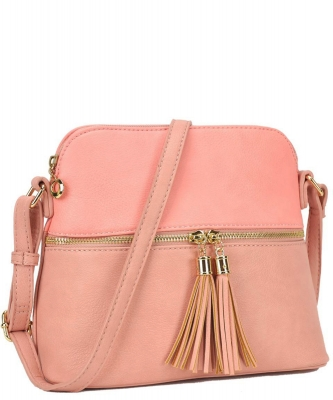 Two Color Cute Cross Body Bag Design LP051 PINK