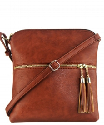 Elegant Wholesale Fashion Cross Body Bag LP062 COFFEE