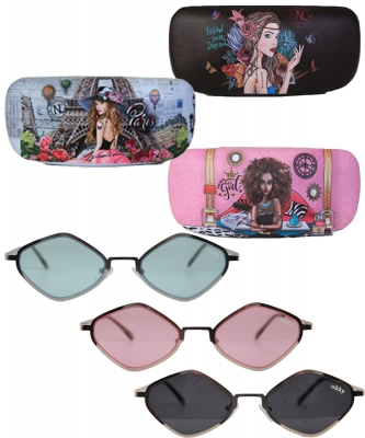 6 Pack of Nikky Arabella Geo Sunglasses nk20389
