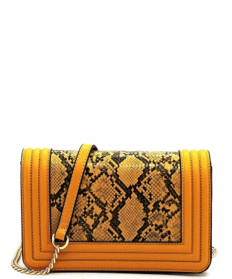 New Fashion Snakeskin Crossbody Bag SM20037 YELLOW