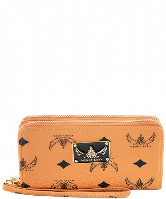 WK Collection Trendy Designer Fashion Wallets W1008 CAMEL