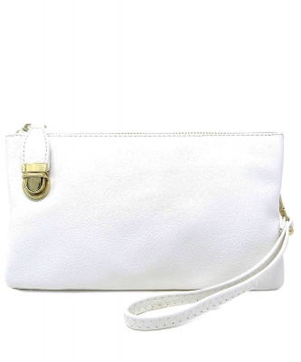 Womens Multi Compartment Functional Crossbody Bag WU020B WHITE