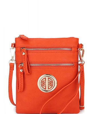 Fashion Logo Hipster Cross Body Bag WU022L CARROT