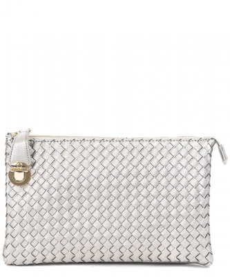 Fashion Woven Clutch Crossbody Bag WU042 BRICK