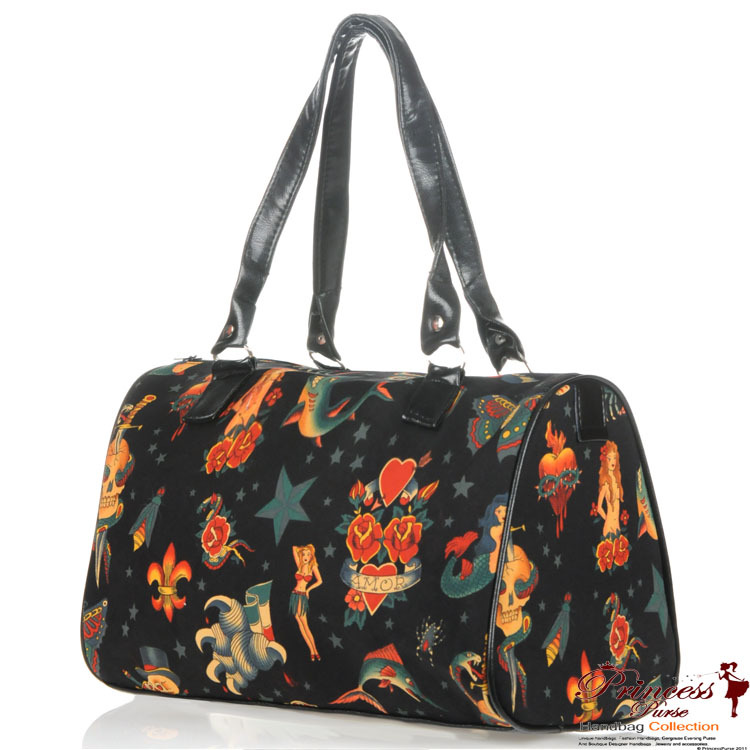Designer Inspired Tattoo Handbag Made In Usa Wholesale