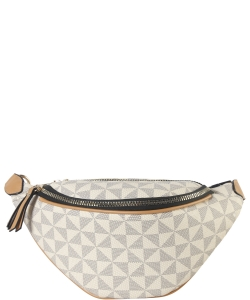 Faux Leather Women's Fanny Pack 007-7248 TAUPE