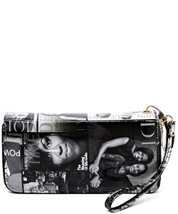 Magazine Fashion wallets 085 BLACK