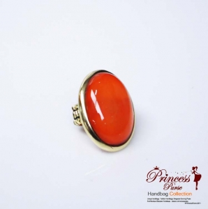 Big Face Colored Ruby Stretch Ring