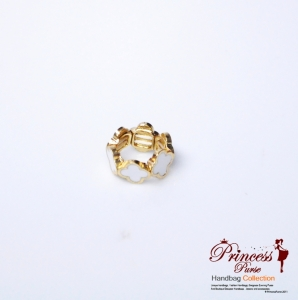 Designer Inspired Rounded Cross Shaped Stretch Ring