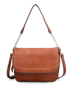 Urban Expressions Maisy Vegan Leather Crossbodybag 10308D COGNAC