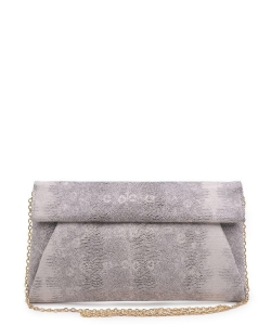 Urban Expressions Emilia Clutch Bag 10385SE BLACK CREAM MULTI
