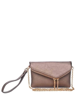 Urban Expressions LUCY Clutch Bag 10829  PEWTER